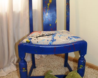 Wacky 'Street Art' Blue Graffiti Chair