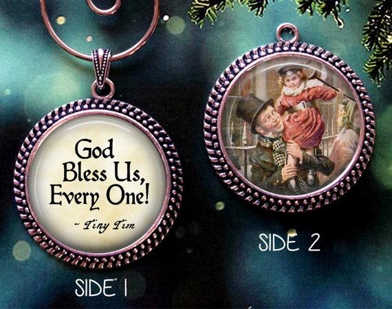 A Christmas Carol Quote Christmas Ornament Tiny Tim God