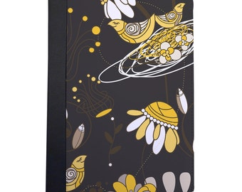 Yellow Bird Inspired Folio Case For The iPad Mini 1, 2, 3 and 4 Only