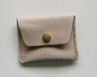 Handmade leather card purse