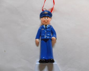 Air Force Personalized Christmas Ornament