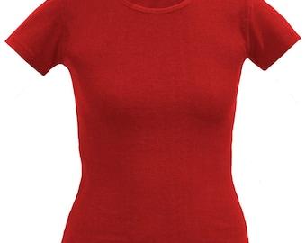 Red hemp/organic cotton top