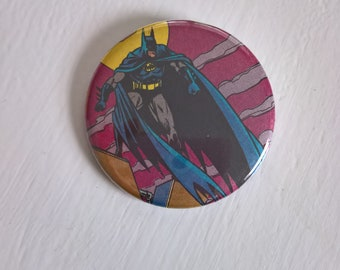 Gotham Knight Vintage Batman Pinback Button --- Retro 1990's DC Comics Badge --- Superhero Crime Fighter Cool Accessory Pin Stocking Stuffer