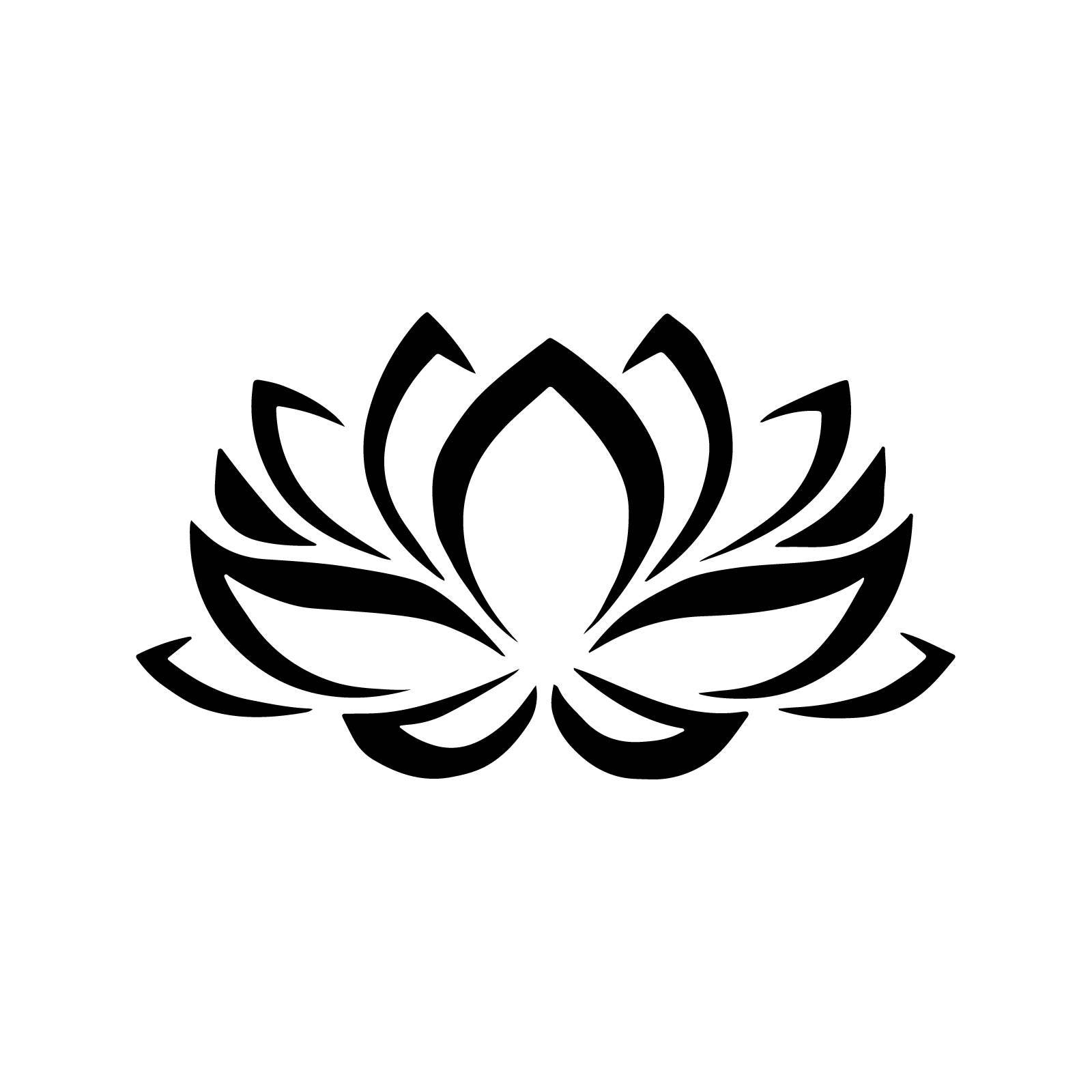 Stencil floral lotus flower stencil decoration 5 sizes svg pdf zoom izmirmasajfo Images
