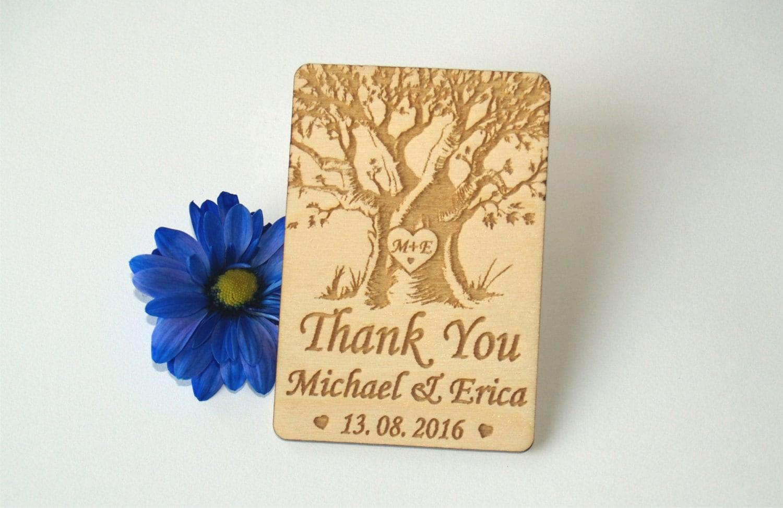 Thank You Wedding Magnets Wedding Favors Wedding Favor Tags Thank