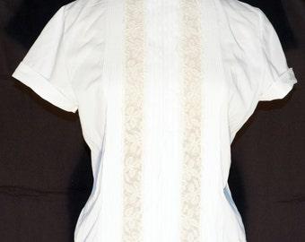 1950s Secretary Suit Blouse Sz 8-10 Bust Vintage Retro