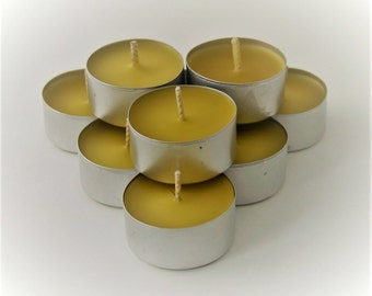 Beeswax Tealight Candles - 8
