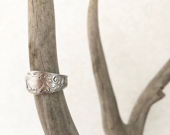 UK Plated Ornate Spoon Ring