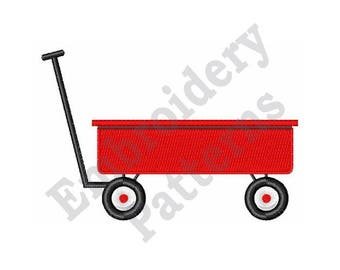Red Wagon - Machine Embroidery Design