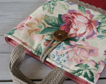 Laptop sleeve for a 13 inch Macbook/cotton/ handles