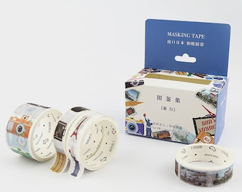 4 Rolls Japanese Washi Tape Masking Tape decoration Tape