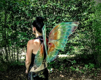 OOAK Fantasy Faerie Wings Rainbow Sparkle Adult XL size
