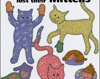 Quilt Book -- 3 Little Kittens -- Traditional Applique Quilting Book -- Fusible or Hand Cat Quilt Applique Patterns -- Baby Quilts