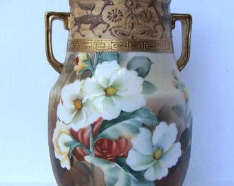 Antique Signed Moriage Nippon Vase