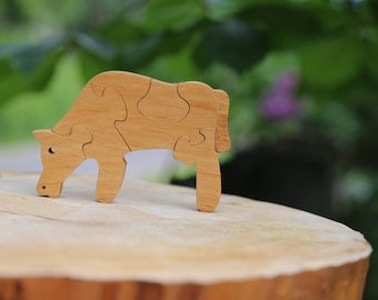 Wooden Shape Puzzle Wooden Toy Toddler Toy Baby Toy Wood Toy Educational Toy Waldorf Toy Wood Puzzle Toy Montessori Toy Educational Toys