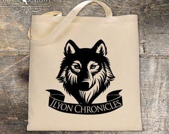 Ilyon Chronicles Wolf Canvas Tote Bag - Book Bag
