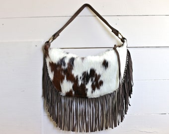 leather purse, cowhide shoulder bag, Maurizio Tatum cowhide purse