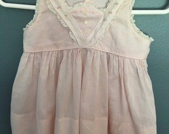 Castro and Co vintage baby dress pink   3-6 months