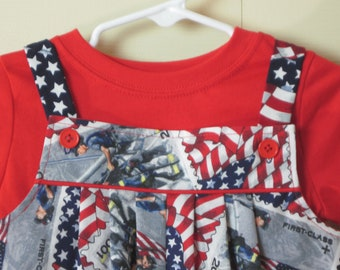 Independence Day, 4th of July, Patriotic Romper Multi Toddler Sizes