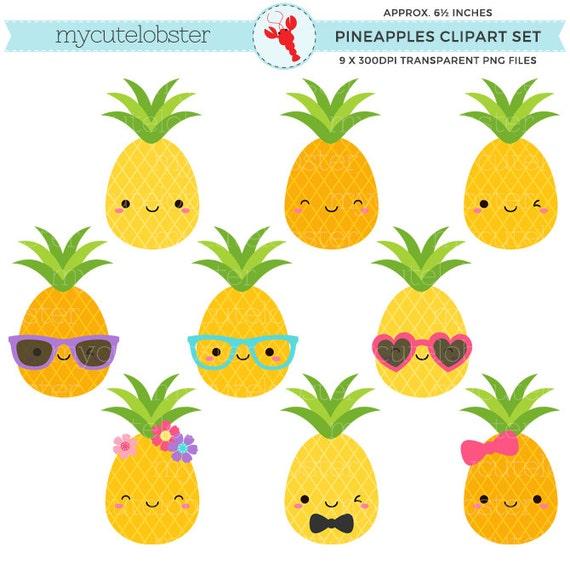 cute pineapples clipart set pineapple clip art fun rh etsy com pineapple clip art outline pineapple clip art black and white