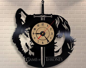 Game of Thrones gift vinyl wall record clock.