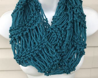 Scarf, Hand Knit Scarf ,Infinity scarf, knit cowl, scarflette, neckwarmer, womens, Ready to Ship