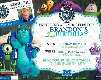 Monsters University invitation