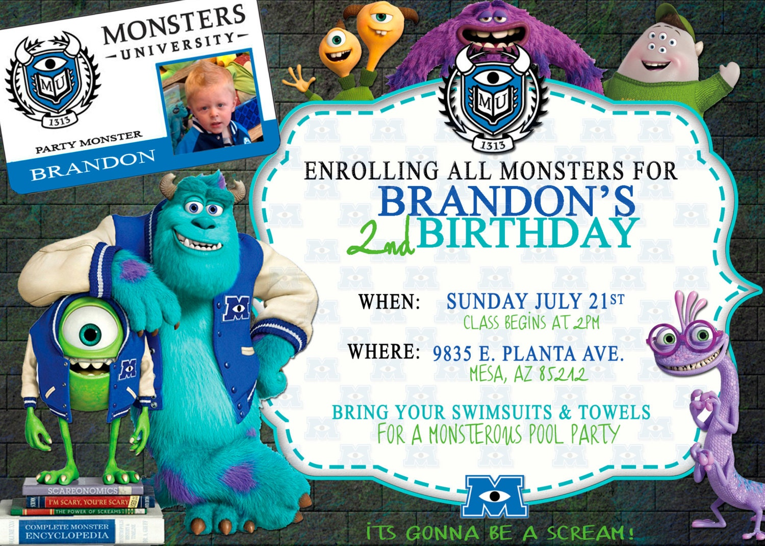Monsters University invitation