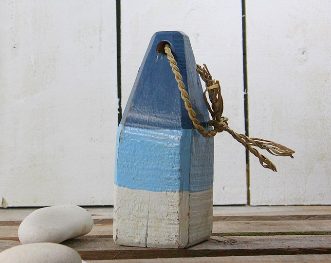 Blue White Beach Decor Lobster Buoy  Vintage Style Nautical by SEASTYLE