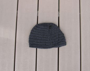 Black Crocheted Beanie