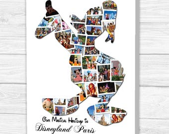 Donald Duck Photo Collage Canvas, Print, Framed Print or Digital Copy