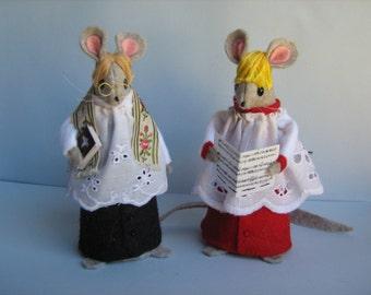 Church Mice Felt Mice Vicar Goodly & Choirboy Robin