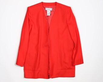 YVES SAINT LAURENT -  Red wool jacket
