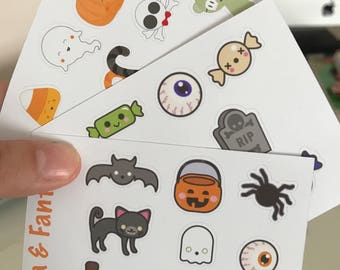 Halloween stickers, planner, stickers, Diary