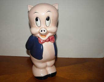 Porky Pig 10inch Glazed Ceramic Bank
