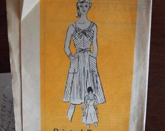 Mail Order Printed Pattern 4586 Vintage Sundress Size 18