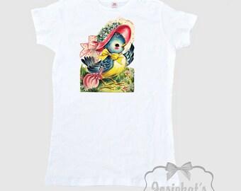 Women's Easter Shirt - Easter Bluebird Shirt - Vintage Bird Shirt - Ladies Easter Shirt - Woman Blue Bird Tshirt - Adult Size  S M L Xl 2Xl