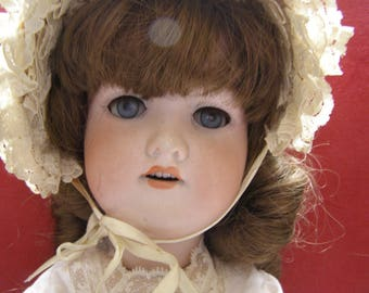 Beautiful Antique Bisque Doll - Armand Marseille 390 A6M - Made In Germany - 21""