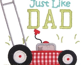 Father's Day Shirt for kids, Boys Father's Day Shirt, Lawnmower Shirt, Just Like Dad Shirt, Daddy's Little Helper, Lawnmover birthday shirt