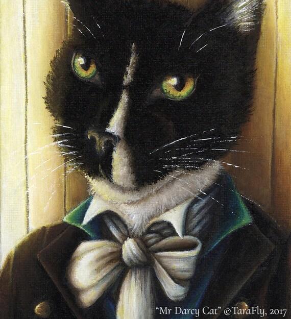 Mr Darcy Tuxedo Cat 5x7 Fine Art Print
