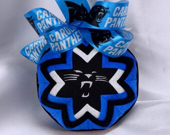 Carolina Panthers Quilted Christmas Ornament