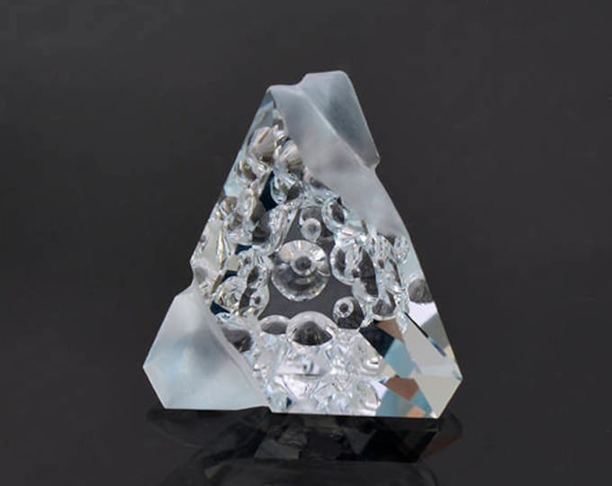 Spectacular Blue Topaz Gemstone with Custom Hand Carving 15.41 cts.