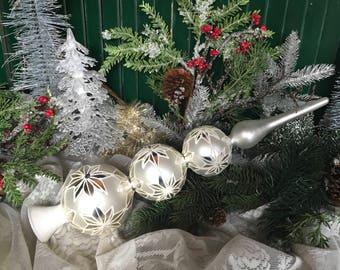 Tree Topper, Vintage Christmas, Vintage Tree Topper, 1950s Christmas, Silver, Christmas Tree, Topper, Retro Tree Topper, Christmas Tree Top