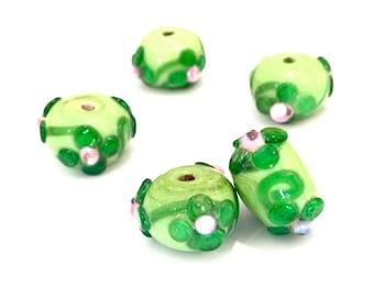 Handmade 15mm glass bead X 1 pce