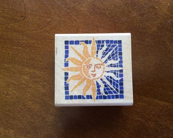 RUBBER STAMPEDE Celestial Mosaic Stamp | Craft Supplies | Card Making Supplies