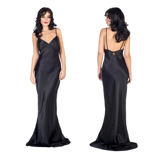 Black Silk Gown