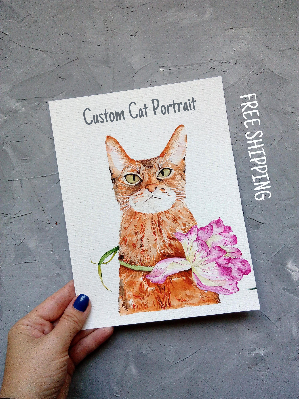 Benutzerdefinierte Katze Portrait Haustier Gemälde Original