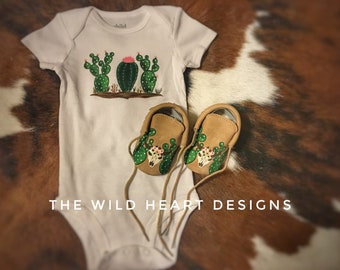 Onesie and Moccasin set