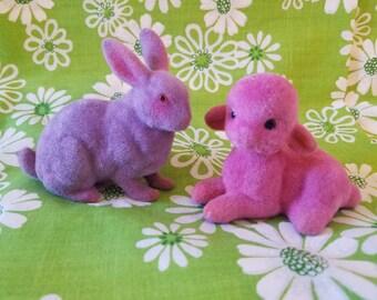 Small Flocked Bunny and Lamb