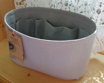 Gray / Purse ORGANIZER Insert SHAPER / Flexible or Stiff Bottom / STURDY / 5 Sizes Available / Check out my shop for more colors & styles